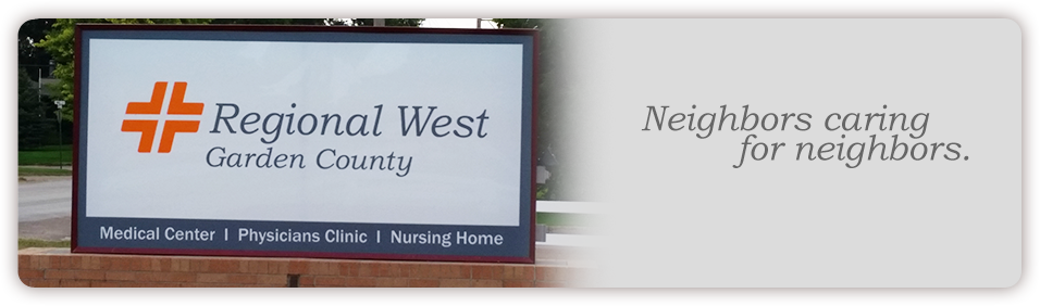 The Regional West Garden County Welcome Sign